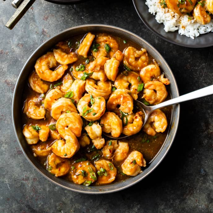 Spicy Soy-Bourbon Shrimp