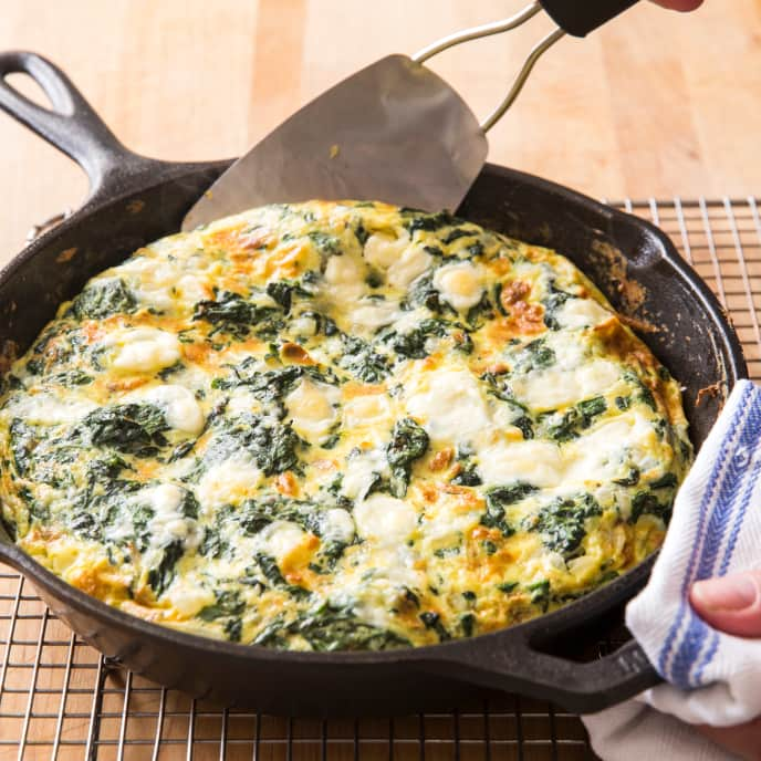 Cast Iron Spinach and Feta Frittata