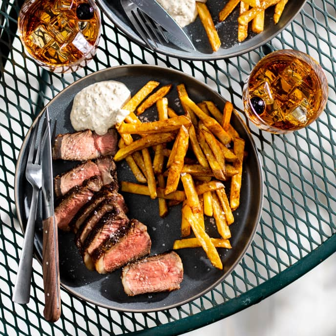 Steak Frites with Horseradish Aioli for Two