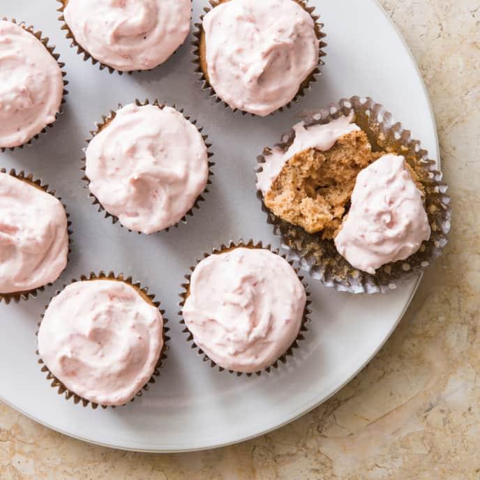 Strawberry Cupcakes (Reduced Sugar)