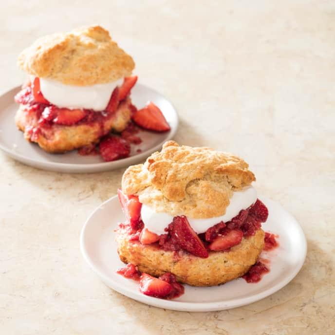 Strawberry Shortcakes (Reduced Sugar)