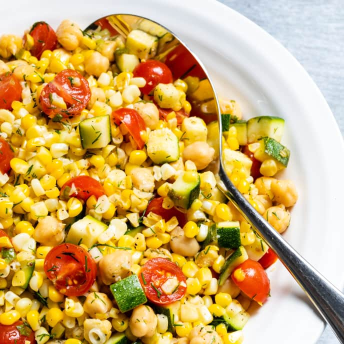 Succotash Salad with Chickpeas and Dill