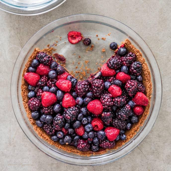 Summer Berry Pie (Reduced Sugar)