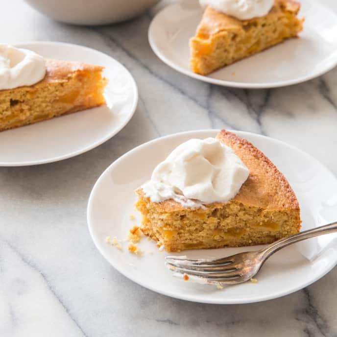 Summer Peach Cake (Reduced Sugar)