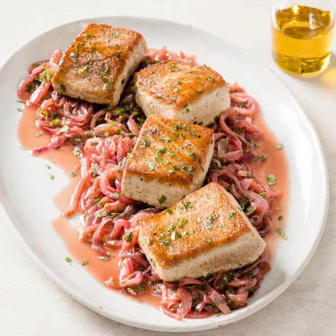 Tuna with Sweet-and-Sour Onions