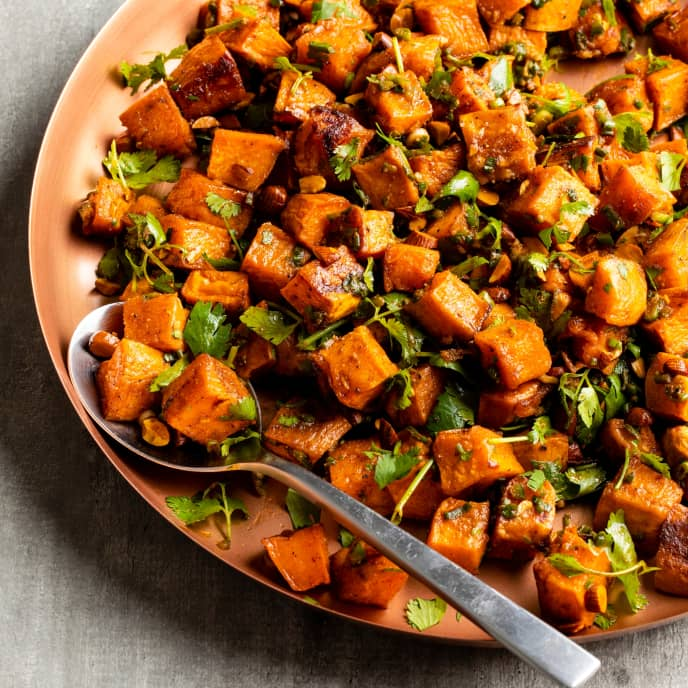 Sweet Potato Salad with Cumin, Smoked Paprika, and Almonds