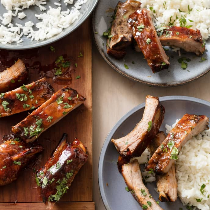 Slow-Cooker Sweet-and-Sour Sticky Ribs for Two