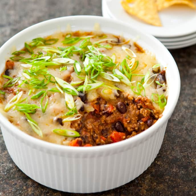 Slow-Cooker Beef and Black Bean Taco Dip