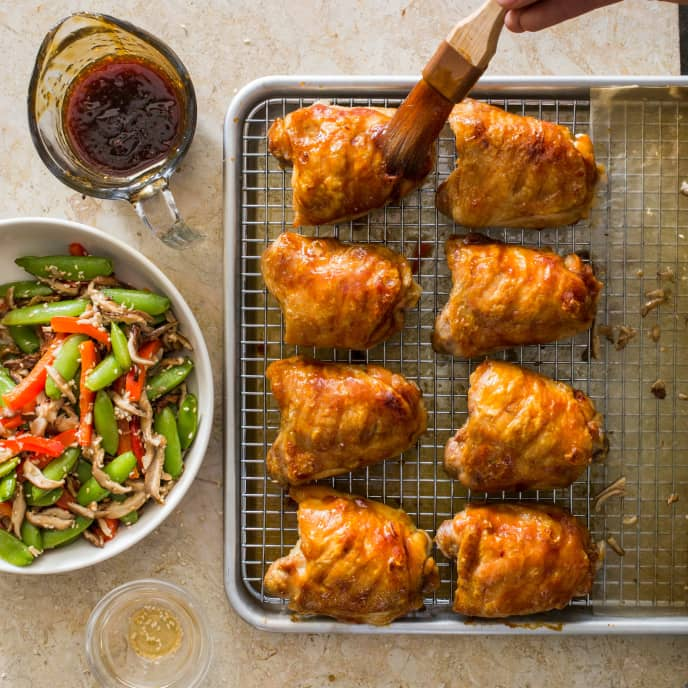 Sheet-Pan Teriyaki Chicken Thighs with Sesame Vegetables
