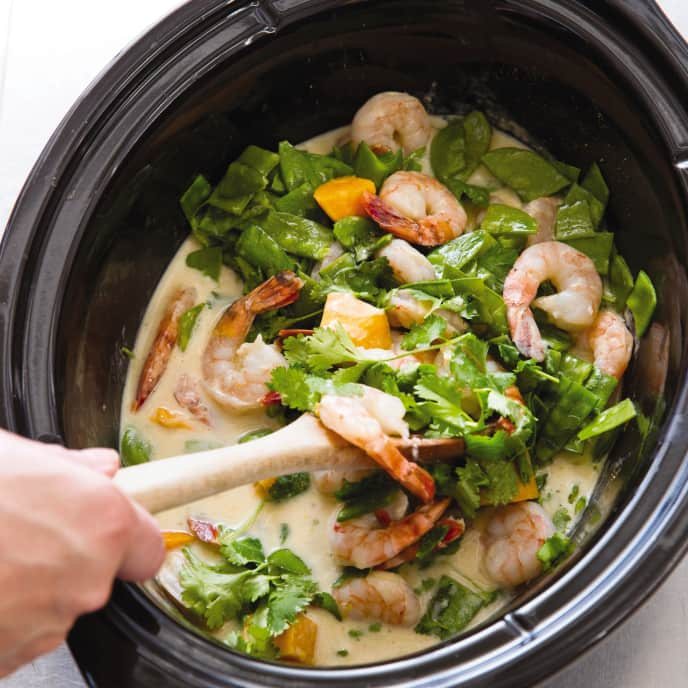 Slow-Cooker Thai Green Curry With Shrimp and Sweet Potatoes