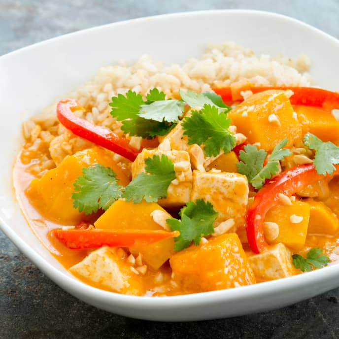 Slow-Cooker Thai Braised Butternut Squash With Tofu