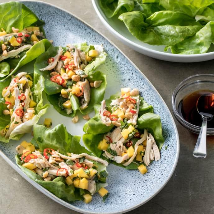 Air-Fryer Thai-Style Chicken Lettuce Wraps