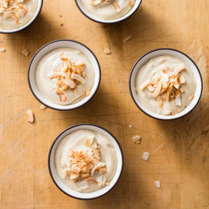 Toasted Coconut–Banana Pudding (Reduced Sugar)