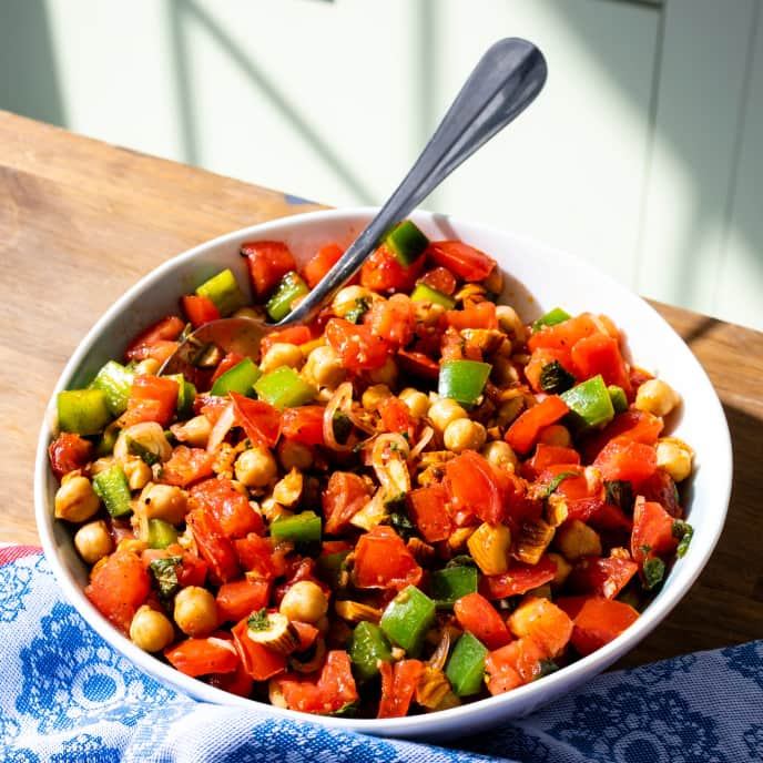 Tomato and Chickpea Salad