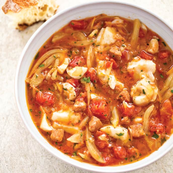 Mediterranean-Style Fish Stew for Two