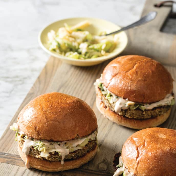 Ultimate Veggie Burgers with Sweet and Tangy Napa Slaw