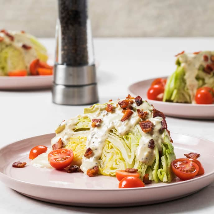 Wedge Salad with Creamy Black Pepper Dressing