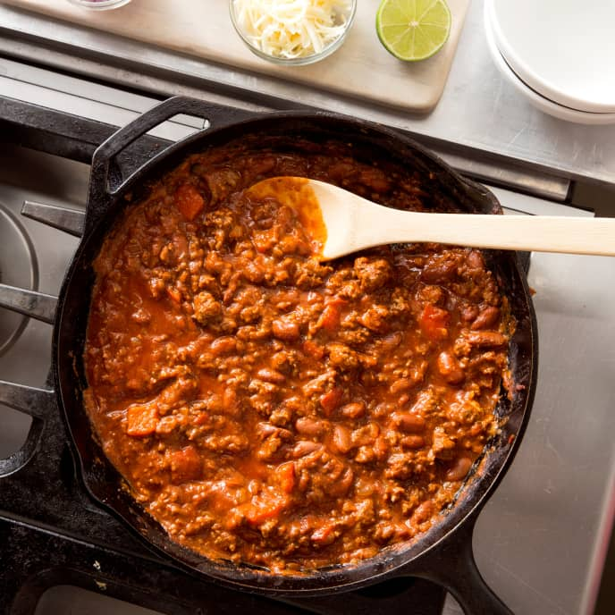 Cast Iron Weeknight Beef Chili