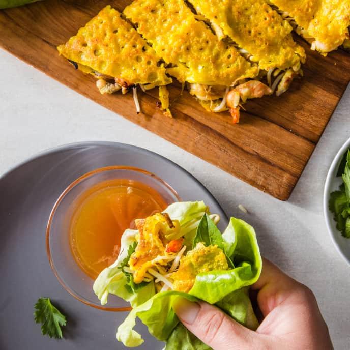 Bánh Xèo (Sizzling Vietnamese Crepes)