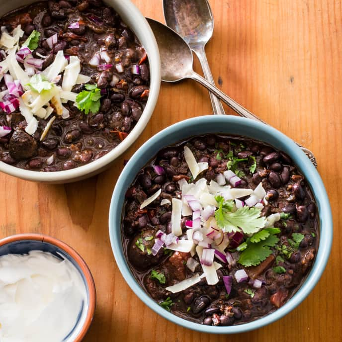 Slow-Cooker Black Bean Chili for Two