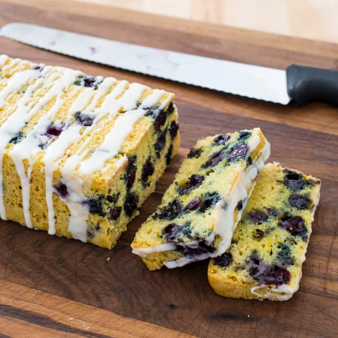Slow-Cooker Blueberry Cornmeal Tea Cake