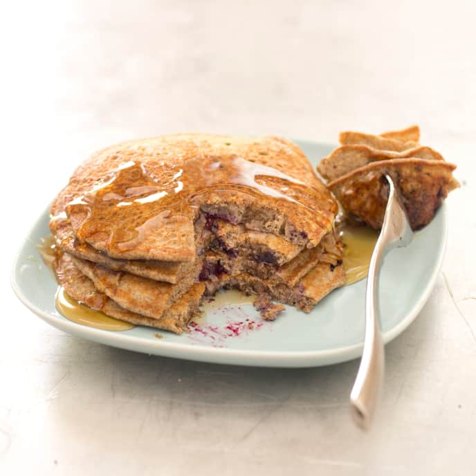 Gluten-Free Buckwheat Blueberry Pancakes