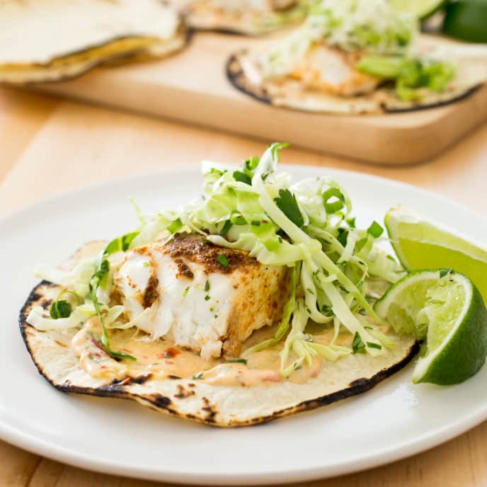Slow-Cooker California-Style Fish Tacos