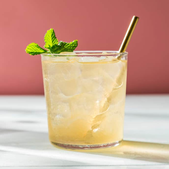 Cantaloupe-Mint Iced Green Tea