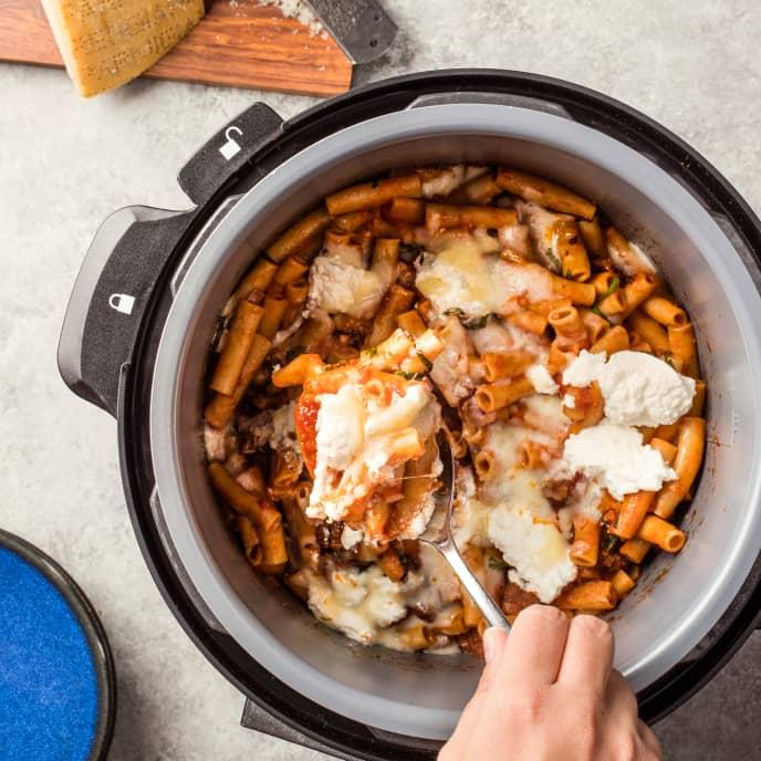 Multicooker Ziti with Sausage Ragu