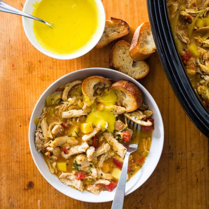 Slow-Cooker Chicken Bouillabaisse