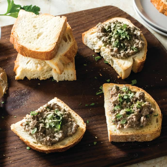 Crostini with Chicken Liver Spread