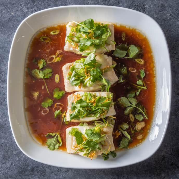 Oven-Steamed Fish with Scallions and Ginger