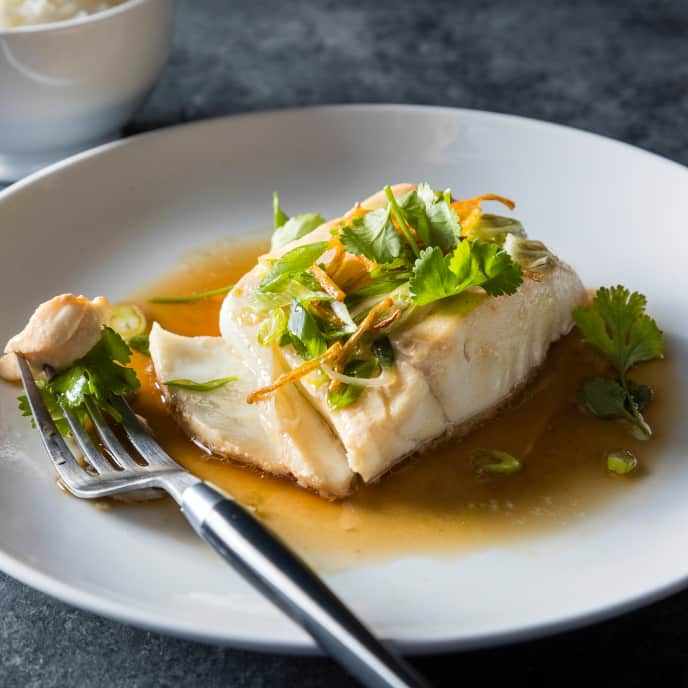 Oven-Steamed Fish with Scallions and Ginger for Two