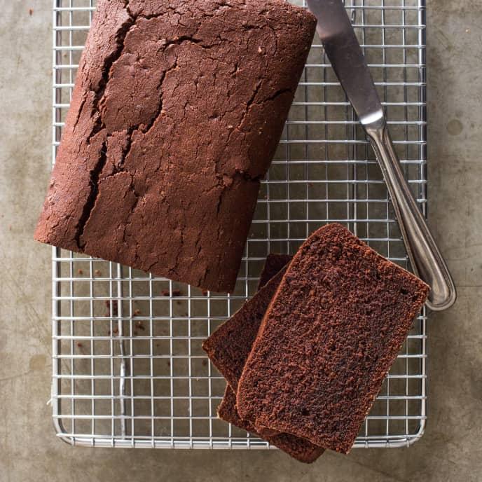 Chocolate Pound Cake (Reduced Sugar)