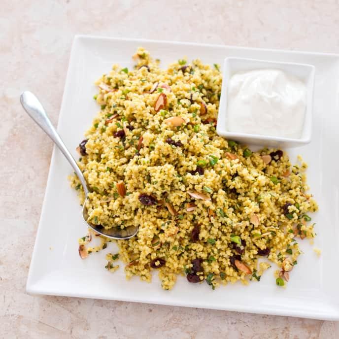 Gluten-Free Curried Millet Pilaf