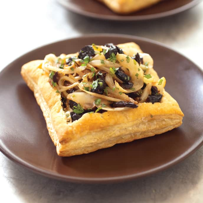 Fennel, Olive, and Goat Cheese Tarts for Two
