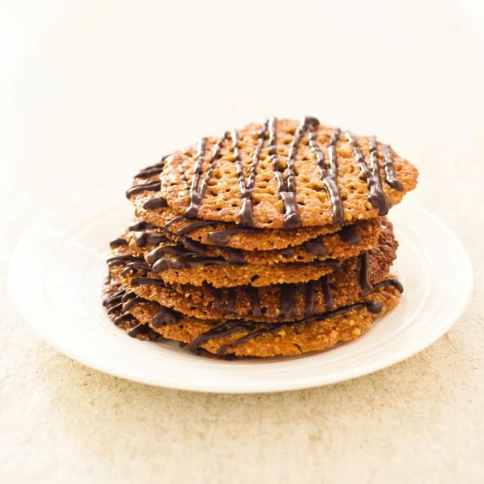 Gluten-Free Florentine Lace Cookies