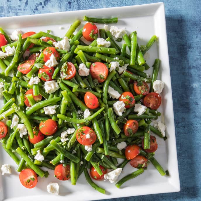 Green Bean Salad with Cherry Tomatoes and Feta