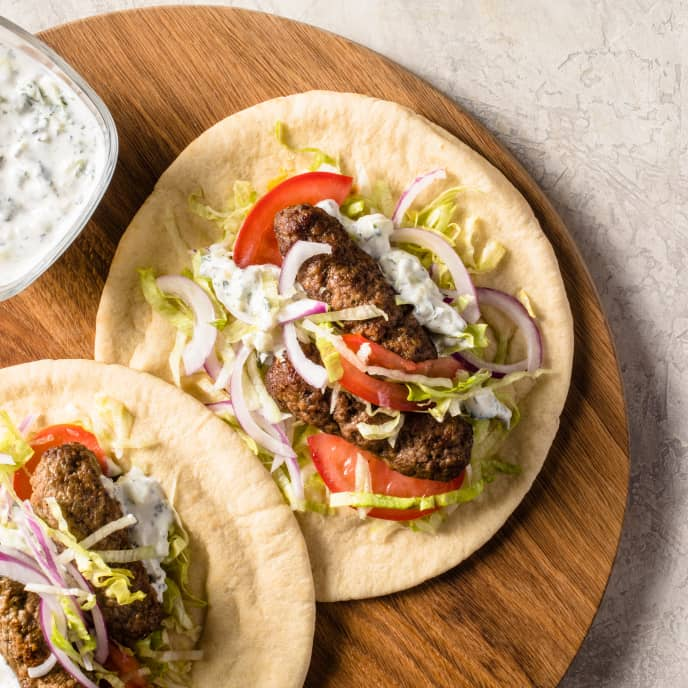 Air-Fryer Lamb Kofte Wraps