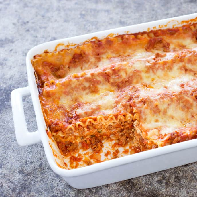 Gluten-Free Lasagna with Hearty Tomato-Meat Sauce