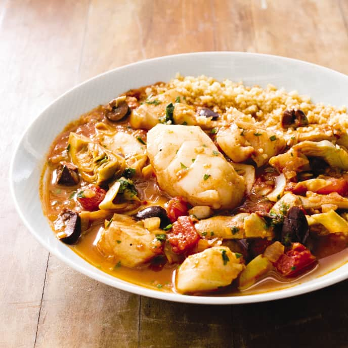 Slow-Cooker Moroccan Fish Tagine With Artichoke Hearts