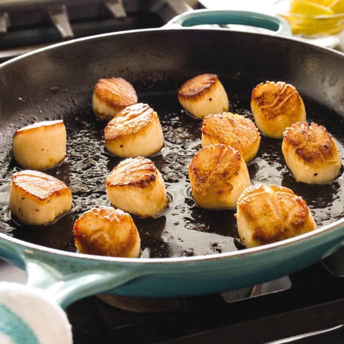 Cast Iron Pan-Seared Scallops