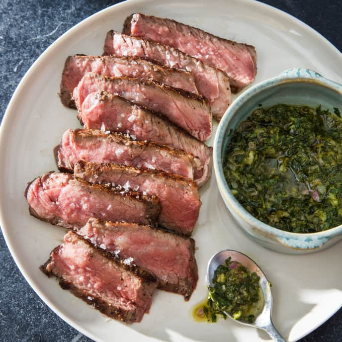 Pan-Seared Strip Steak for Two