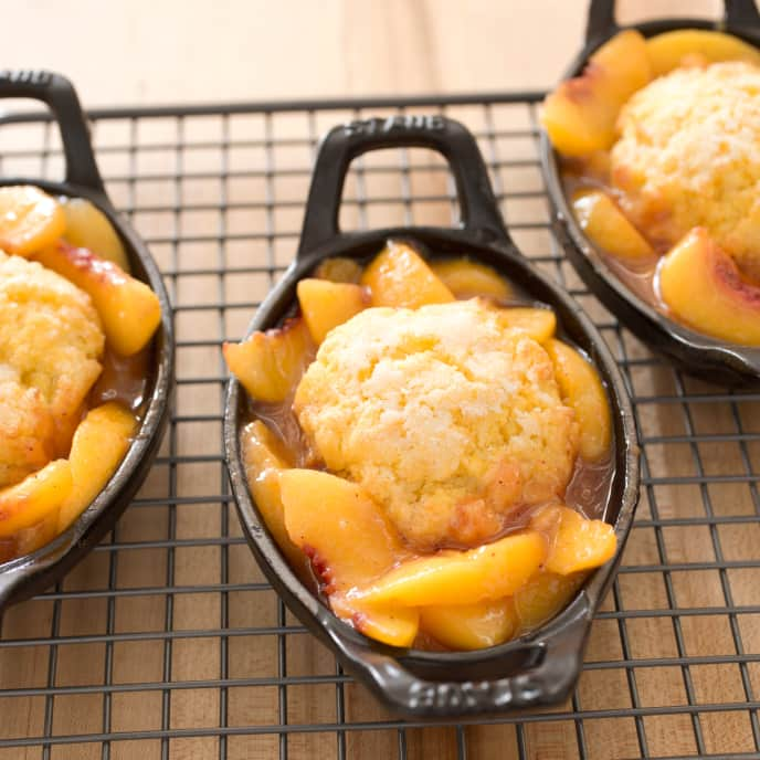 Gluten-Free Peach Cobbler with Cornmeal Biscuits