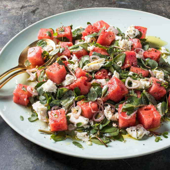 Purslane and Watermelon Salad
