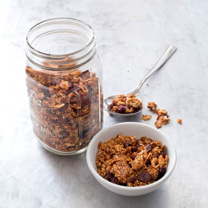 Quinoa Granola with Sunflower Seeds and Almonds