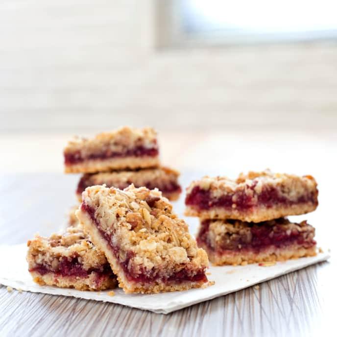 Gluten-Free Raspberry Streusel Bars