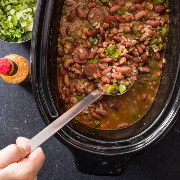 Slow-Cooker Red Beans and Rice Stew