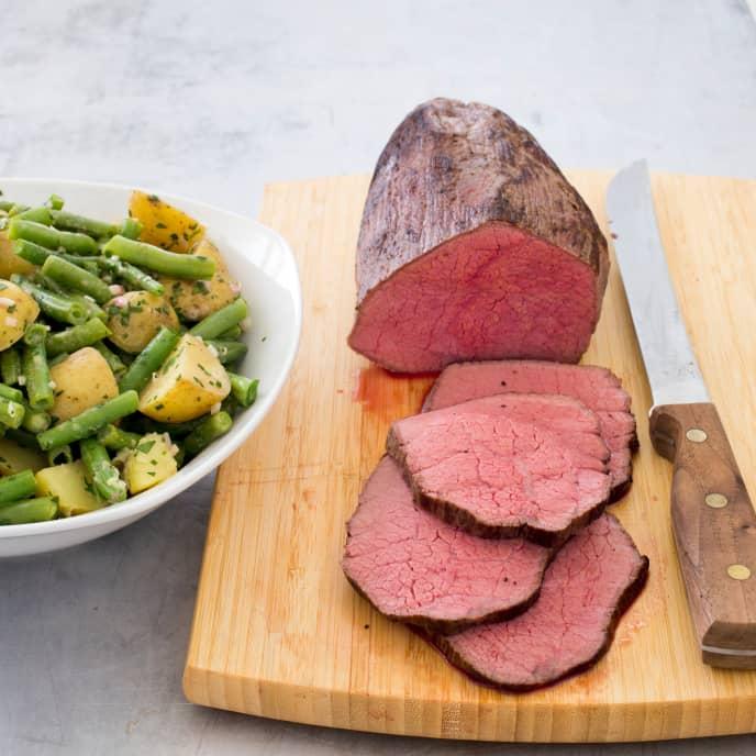 Slow-Cooker Roast Beef With Warm Garden Potato Salad