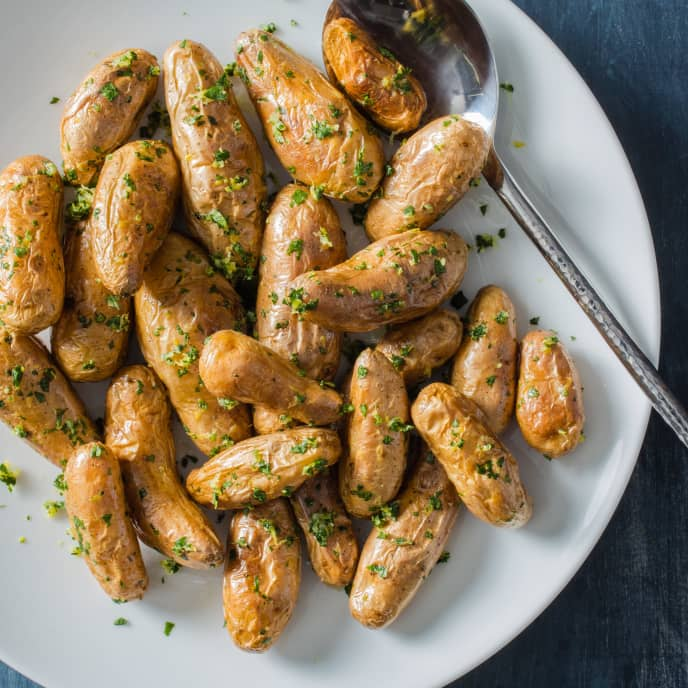 Roasted Fingerling Potatoes with Parsley, Lemon, and Garlic